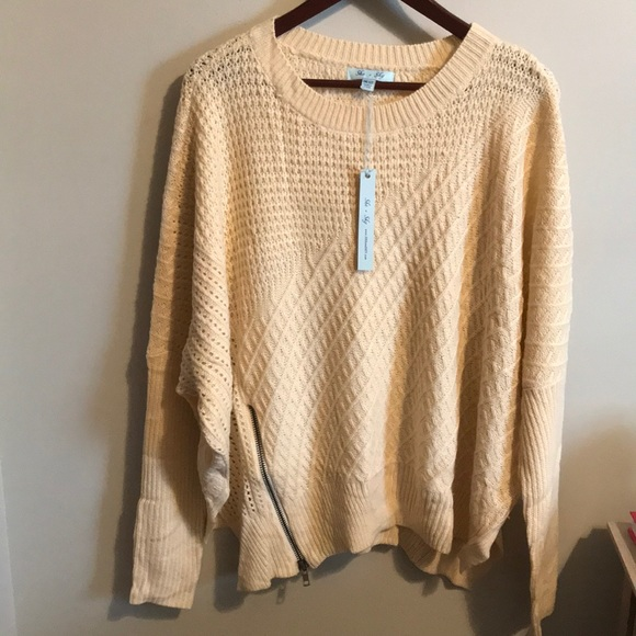 She And Sky Sweaters She Sky Zipper Pullover Sweater Poshmark